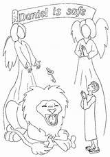 Daniel Den Coloring Lions Lion Bible Children Pages Story Comments Coloringhome sketch template