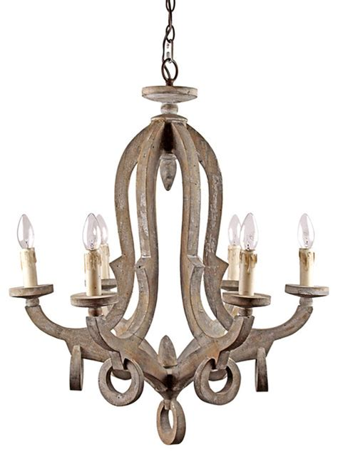 wood chandelier antique style wooden pendant with candle lights Farmhouse