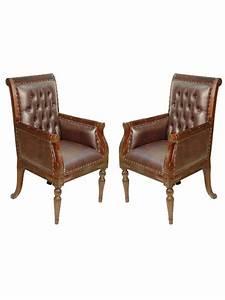 Fauteuil Style Anglais : 2 fauteuils chesterfied style anglais victorien meuble de ~ Teatrodelosmanantiales.com Idées de Décoration