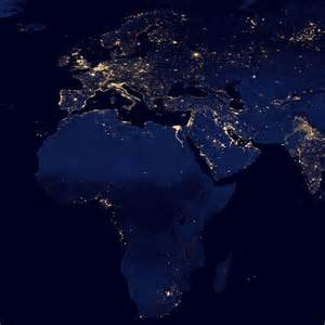 Earth at Night Satellite