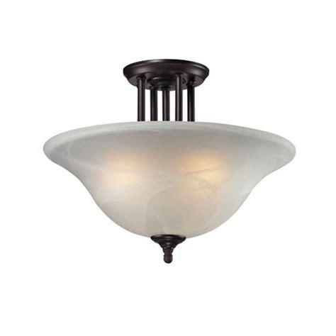 semi flush mount ceiling lights filament design 3 light bronze incandescent