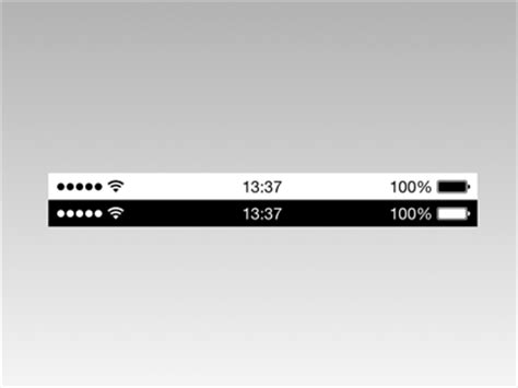 Iphone Top Bar by Apple Ios 7 Status Bars Sketch Freebie Free