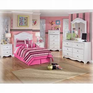 B188 92 Ashley Furniture Exquisite White Two Drawer