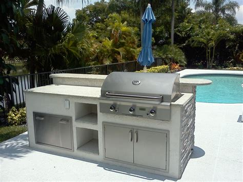 Kitchen Island Grill Custom Outdoor Kitchen Grill Island In Florida Gas Grills Parts Fireplaces And Service