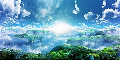 3d Clouds Sky Scenic Landscape Wallpapers Wallpaperup