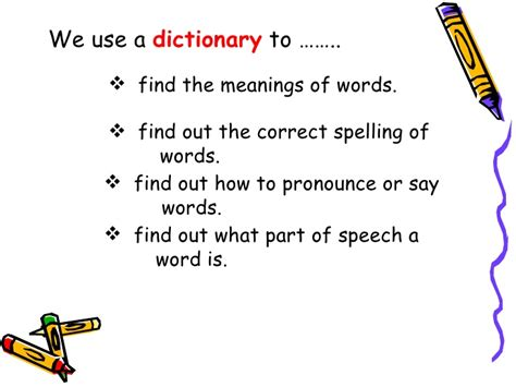 how to use word 3rd dictionary guide words