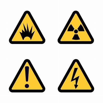 Hazard Warning Flat Icon Symbol Clip Icona