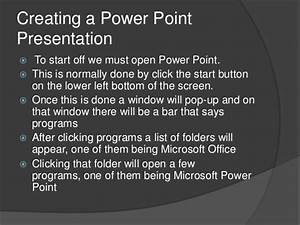 User Guide To Power Point