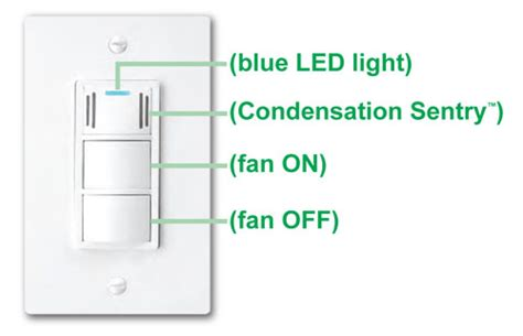 Humidity Sensing Bathroom Fan Switch by Dewstop Fs 100 Condensation Sentry Fan Switch