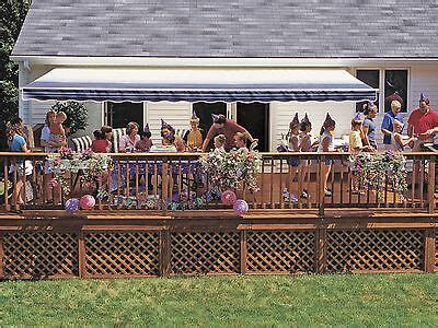ft sunsetter vista manual retractable awning outdoor deck patio awnings ebay