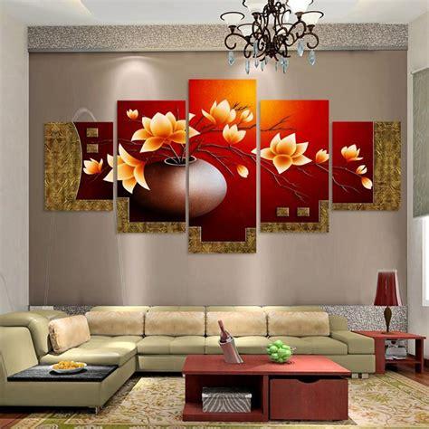 Flower Vase For Living Room by 5 Magnolia Flower Vase Canvas Print Painting