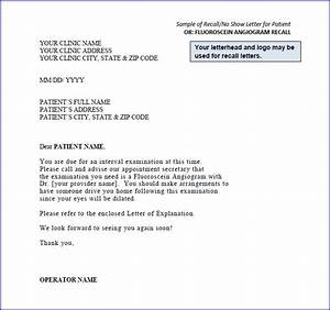 sample recall letters With dental recall letter