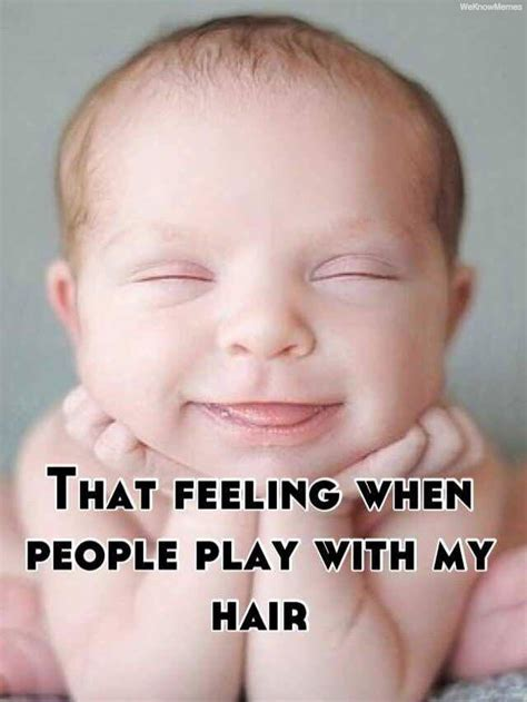 Baby Hair Meme - that feeling when people play with my hair meme collection