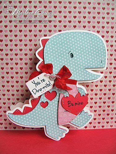 handmade valentine dinosaur shaped card youre dino mite