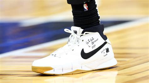 kobe bryant death nba players pay tribute  sneakers
