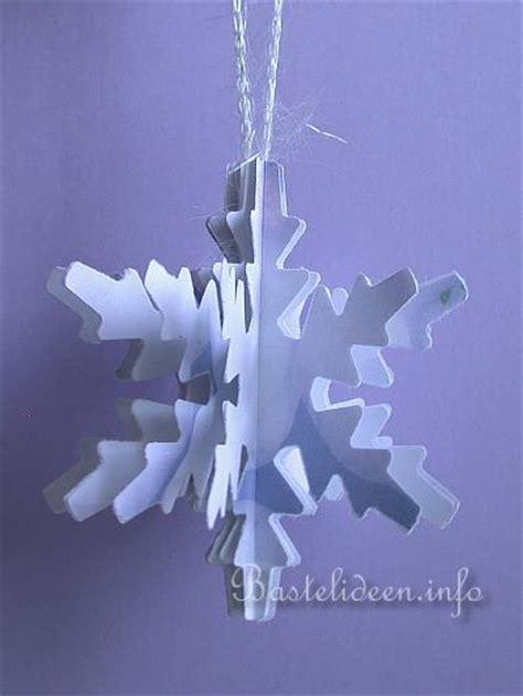 weihnachtsbasteln basteln mit papier   schneeflocke aus papier