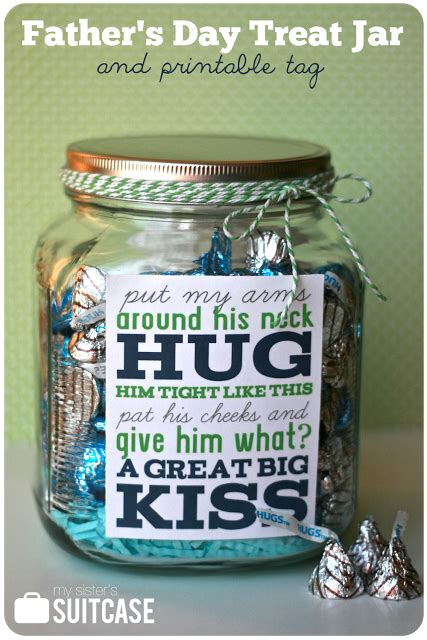 fathers day gift treat jar printable  sisters