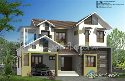 1900 sq ft five bedroom kerala home design