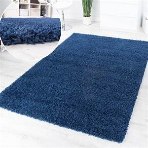 tapis poils hauts et longs shaggy bleu uni super action a With tapis shaggy bleu