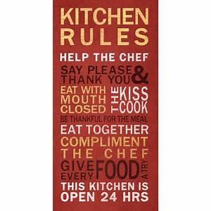 Kitchen Rules Wall Art - Walmart com