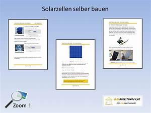 Solarzelle Selber Bauen : solarmodule selber bauen ~ Buech-reservation.com Haus und Dekorationen