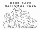 Cave Wind Printable National Parks Coloring Creative sketch template