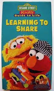 Sesame Street Learning to Share VHS