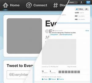 Twitter Profile Page Template for Photoshop | PowerPoint ...