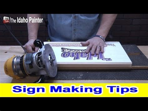 wood sign sign making tips   router