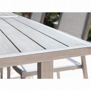 Table De Jardin Extensible Aluminium : table de jardin trieste extensible en aluminium proloisirs ~ Teatrodelosmanantiales.com Idées de Décoration