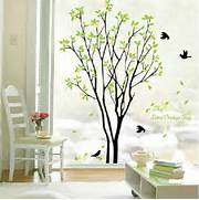 Wall Stickers Decoration Artistic Tree And Bird Room Decor Art Decals Vinyl Art Removable Wall Sticker