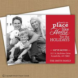 christmas card moving announcement we39ve moved With holiday moving announcements