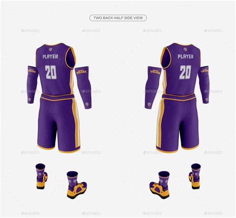 Downloads as many images as you need to get the word out about your jerseys! 38+ Mens Lace Neck Hockey Jersey Mockup Back Half-Side ...