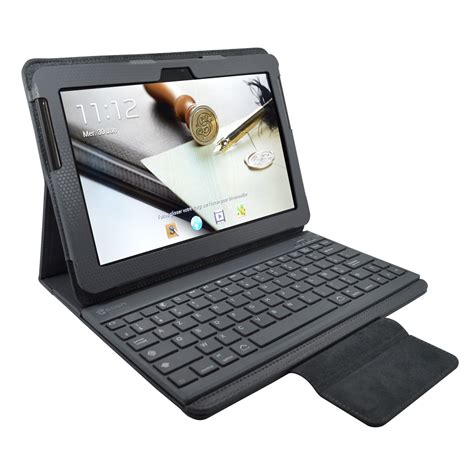 mini bureau informatique heden housse business gris pour samsung galaxy tab 10 1 2