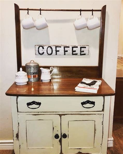 One of the most space saving and cute looking additions to your home coffee stand is a floating shelf. Wash stand meets coffee bar in 2019   Antique wash stand, Wash stand, Furniture fix
