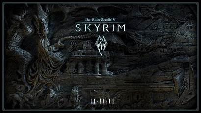 Skyrim Elder Scrolls Wallpapers Desktop 1080p Tes