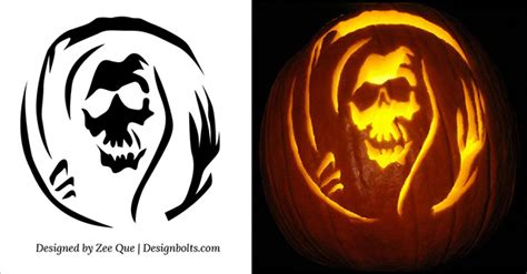 10 free scary pumpkin carving patterns stencils