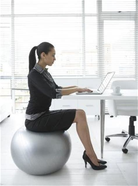 should i sit on a fitball for work glow physio