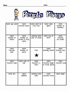 People bingo for kids wishing well pinterest people for People bingo template
