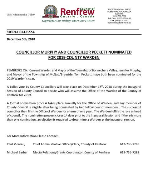 township  mcnabbraeside news  notices