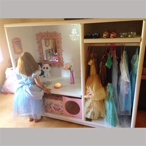 Dress Up Cupboard by Dress Up Cupboard Closet Entertainment Center Upcycled