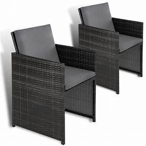 Gartenstühle Rattan Grau : polyrattan st hle stuhl rattan gartenst hle sessel gartensessel 2er set ebay ~ Orissabook.com Haus und Dekorationen