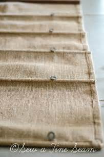 Curtains Without Holes by Burlap Roman Shade Sew A Fine Seam