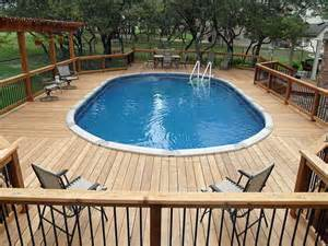 outdoor above ground pool with deck deck plans for above