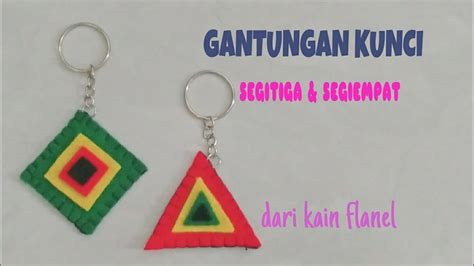 DIY Triangular And Rectangular Key Chains Of Flannel