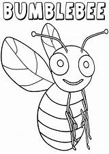 Bumblebee Coloring Pages Insect Animal sketch template
