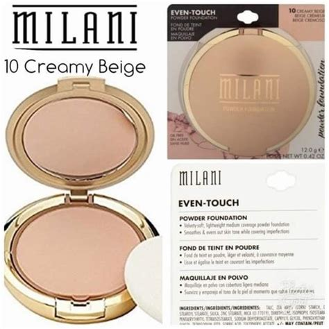 milani touch powder foundation creamy beige