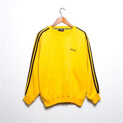 Yellow Sweat T Shirt vintage adidas sweatshirt yellow mustard by