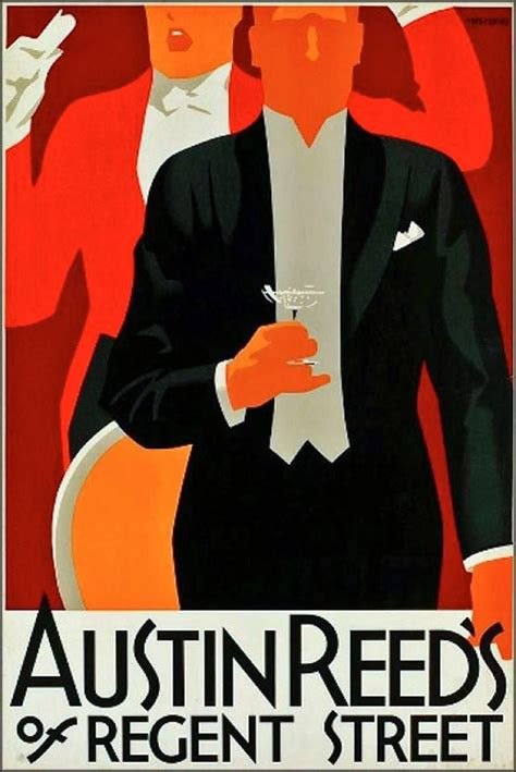 austin reeds art deco fashion vintage advertising