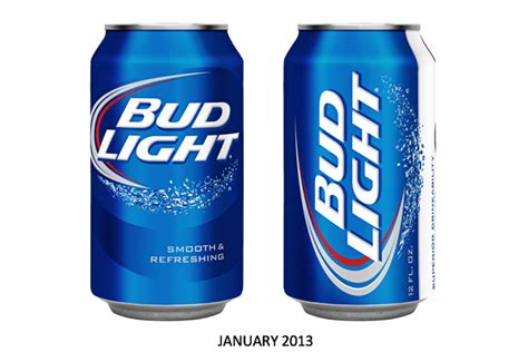 bud light can before after bud light the dieline branding